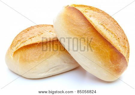 Freshly baked rolls. All on white background.