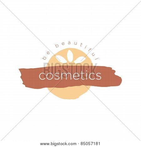 Vector Abstract Icon For Cosmetics And Beauty