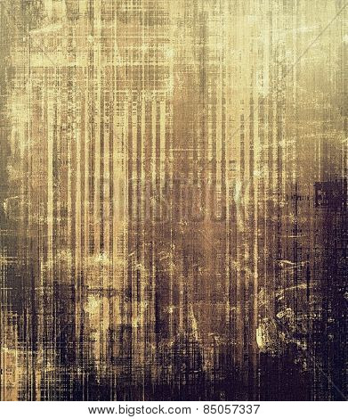Retro background with grunge texture. With different color patterns: yellow (beige); brown; gray; black