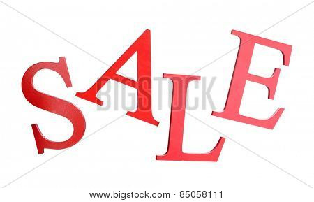 Sale isolated on white