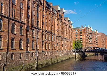 Buildings in the Speicherstadt