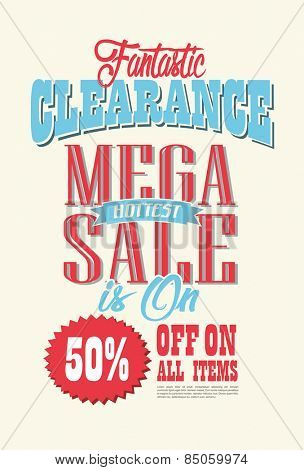 Mega Sale Poster Vector design