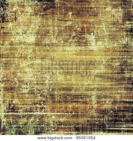 Designed grunge texture or background. With different color patterns: yellow (beige); brown; gray