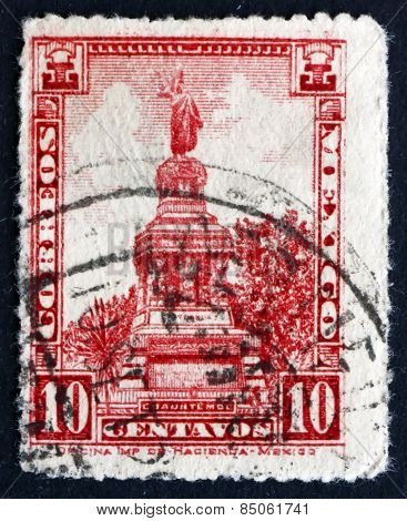 Postage Stamp Mexico 1923 Cuauhtemoc Monument