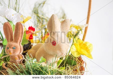 Easter rabbits and chicken