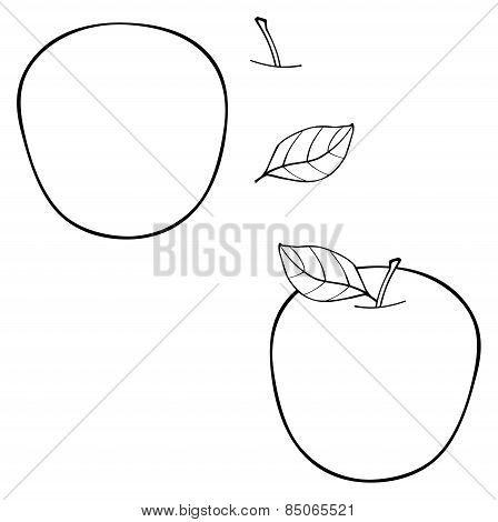 Delightful Garden - Construct Apple With A Leaf