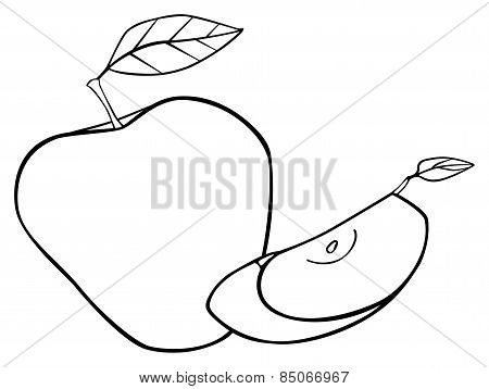 Delightful Garden - Set Of An Apple With Two Leaves And A Slice 2