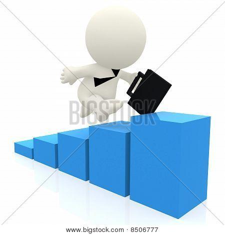 3D Man Climbing Graph