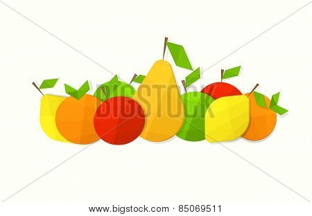 Still life of fruit flat