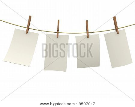 Clothes Pin Holding Sheets