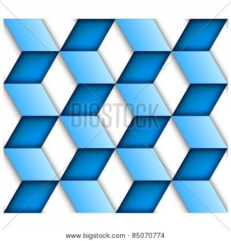vector blue tile seamless background