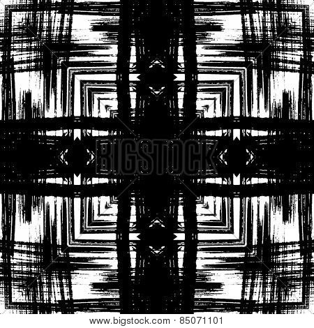 art sketched naive ornamental black pattern isolated on white background, s.8