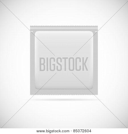 Blank foil packaging.