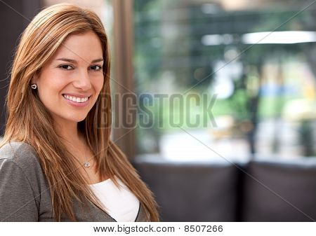 Woman Smiling At Home
