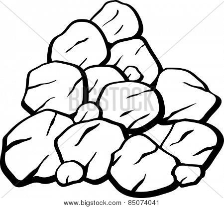 pile of rocks or coal