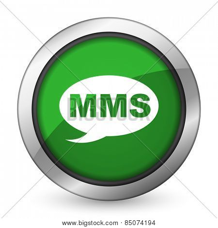 mms green icon message sign