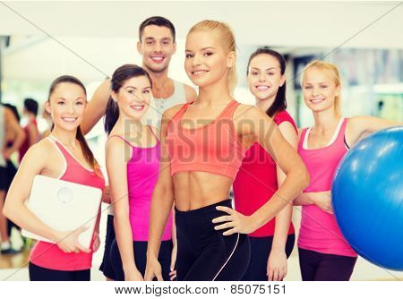 fitness, sport and diet concept - beautiful athletic woman in sportswear
