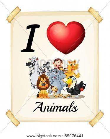 I love animals sign