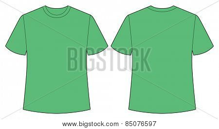 short sleeves shirt with front and back view
