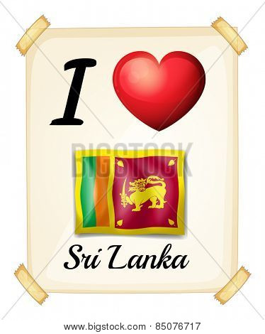 I love Sri Lanka banner