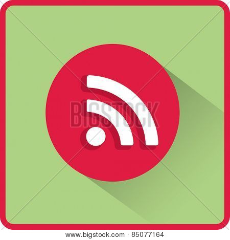 Vector wi fi web flat icon