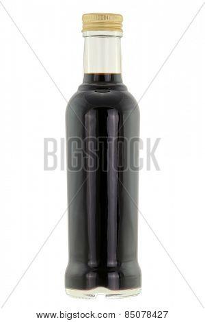 A bottle of Balsamic vinegar isolated on white background