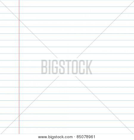 Lined paper. Vector.