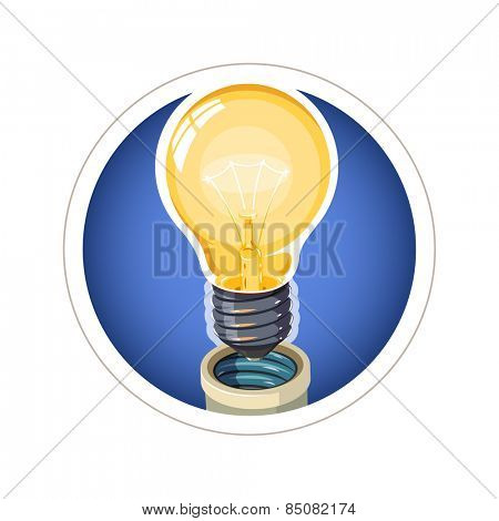 Light bulb. Eps10 vector illustration. Isolated on white background