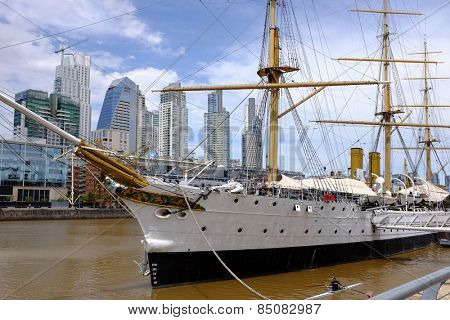 Museum Frigate Sarmiento President in Puerto Madero, Buenos Aires