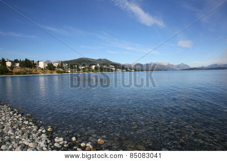 Nahuel Huapi lake and San Carlos de Bariloche in background