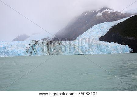 View of Spegazzini glacier from boat, Lago Argentino