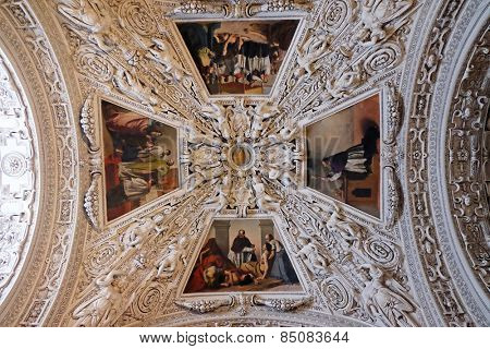 SALZBURG, AUSTRIA - DECEMBER 13: Fragment of the dome in the Chapel of Saint Charles Borromeo, Salzburg Cathedral on December 13, 2014 in Salzburg, Austria.