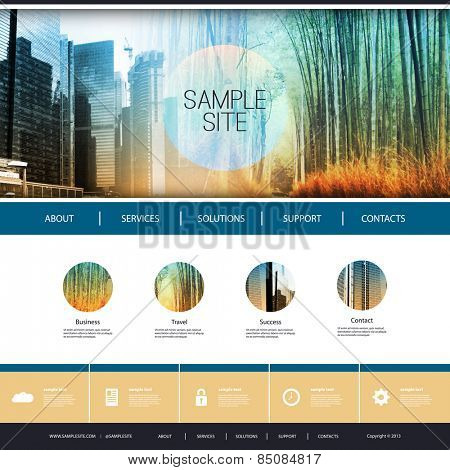 Website Design for Your Business with Photomontage Background