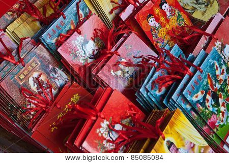Chinese Red Packets Also Known As Ang Pows, For Chinese New Year Festival