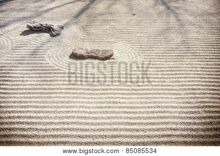 Zen Rock Garden - Sand Patterns