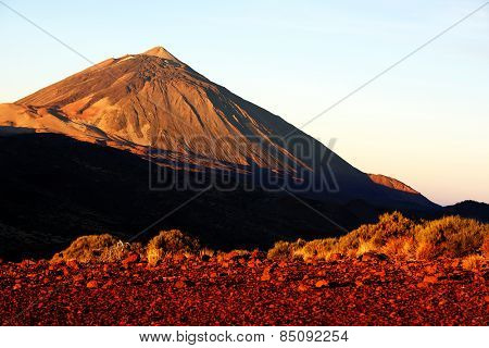 Sunrise light over El Teide Vocano, Tenerife, Canary Islands, Spain