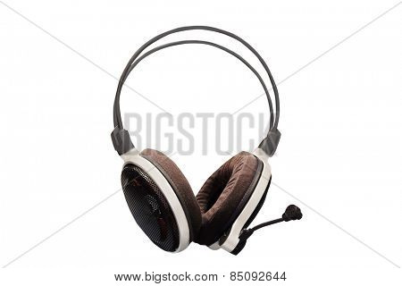 headphones isolated on a light background