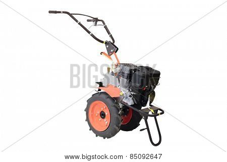 Cultivator against a white background