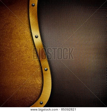 Gold metal template with s pattern