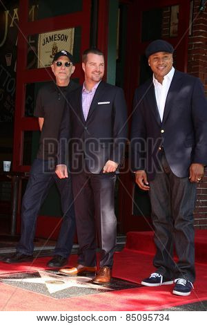 LOS ANGELES - MAR 5:  Paul Brinkman, Chris O'Donnell, LL Cool J at the Chris O'Donnell Hollywood Walk of Fame Star Ceremony at the Hollywood Blvd on March 5, 2015 in Los Angeles, CA