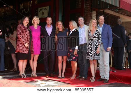 LOS ANGELES - MAR 5:  Chris O'Donnell, Siblings, Mother Julie Ann Rohs von Brecht O'Donnell at the Chris O'Donnell Hollywood WOF Ceremony at the Hollywood Blvd on March 5, 2015 in Los Angeles, CA