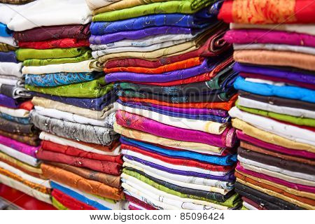 Textile souk (market) in Dubai, United Arab Emirates