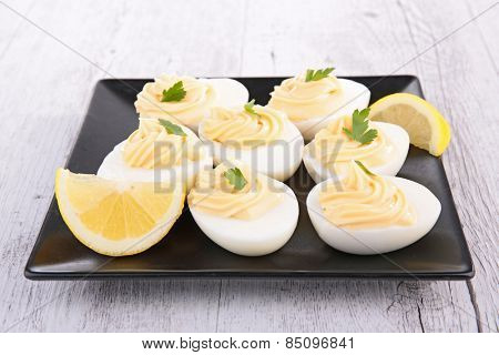 boiled egg and mayonnaise