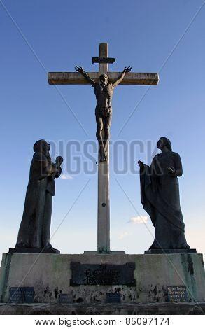 MARIJA BISTRICA, CROATIA - MAY 26: 12th Stations of the Cross, Jesus dies on the cross, pilgrimage Sanctuary, Assumption of the Virgin Mary in Marija Bistrica, Croatia, on May 26, 2009