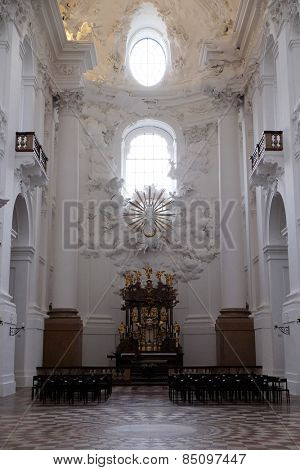 SALZBURG, AUSTRIA - DECEMBER 13: Collegiate church in Salzburg on December 13, 2014.