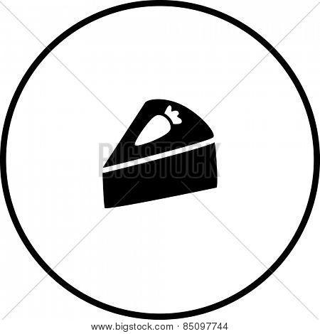carrot cake slice symbol
