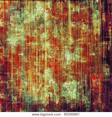 Textured old pattern as background. With different color patterns: yellow (beige); purple (violet); red (orange); green
