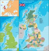 picture of ireland  - Map of the United Kingdom of Great Britain and Northern Ireland - JPG