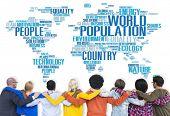 picture of population  - World Population Global People Community International Concept - JPG