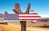 image of texas state flag  - United States Flag wooden sign with a desert background - JPG